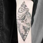 Volcano scenery by Jak Tattoos