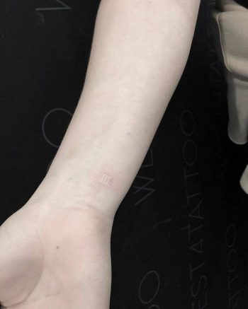 White tattoo by Eunwooa