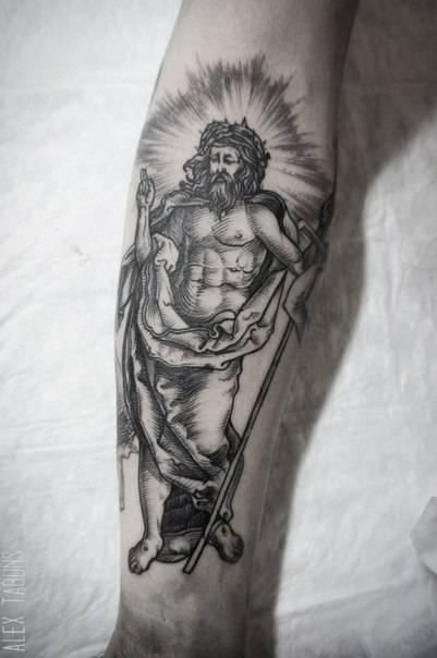 Albrecht Dürer inspired tattoo on the forearm