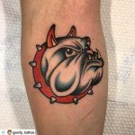 American bulldog Spike by Goofy Tattoo