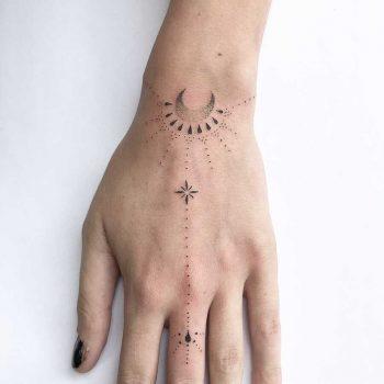 Beautiful wrist piece by Femme Fatale Tattoo