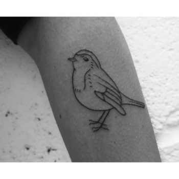Bird tattoo by Lily Gloria