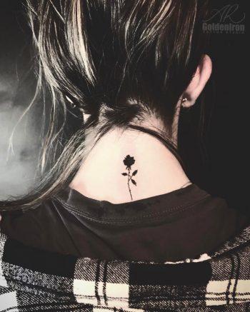 Blackout rose tattoo by Alex Attg