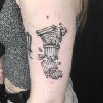 Broken pillar tattoo