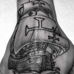 Caravel ship tattoo