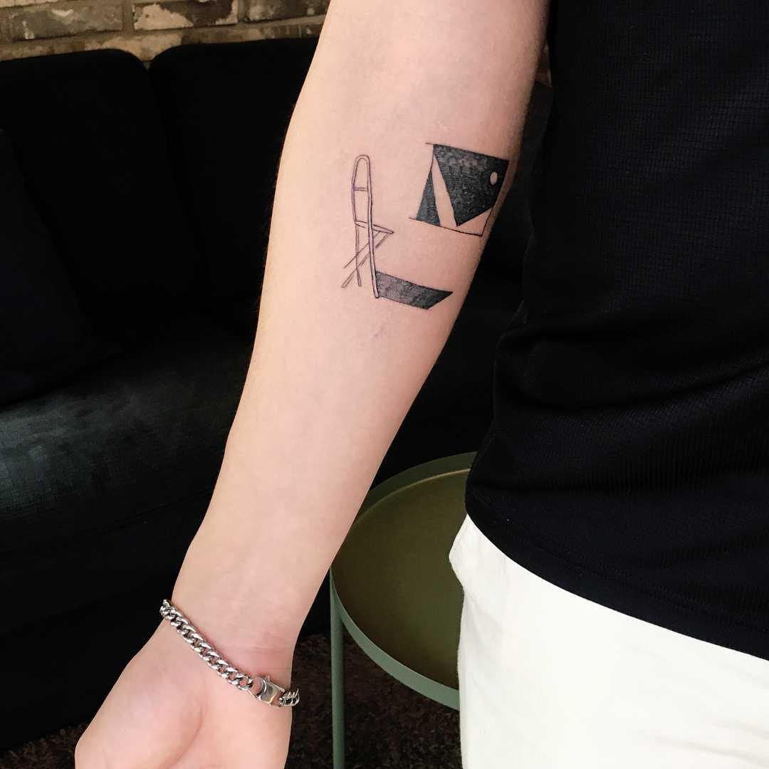 Chair and window tattoo