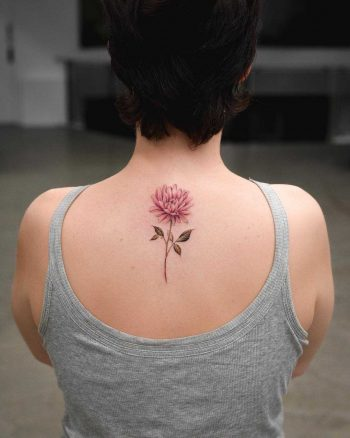 Chrysanthemum tattoo on the back