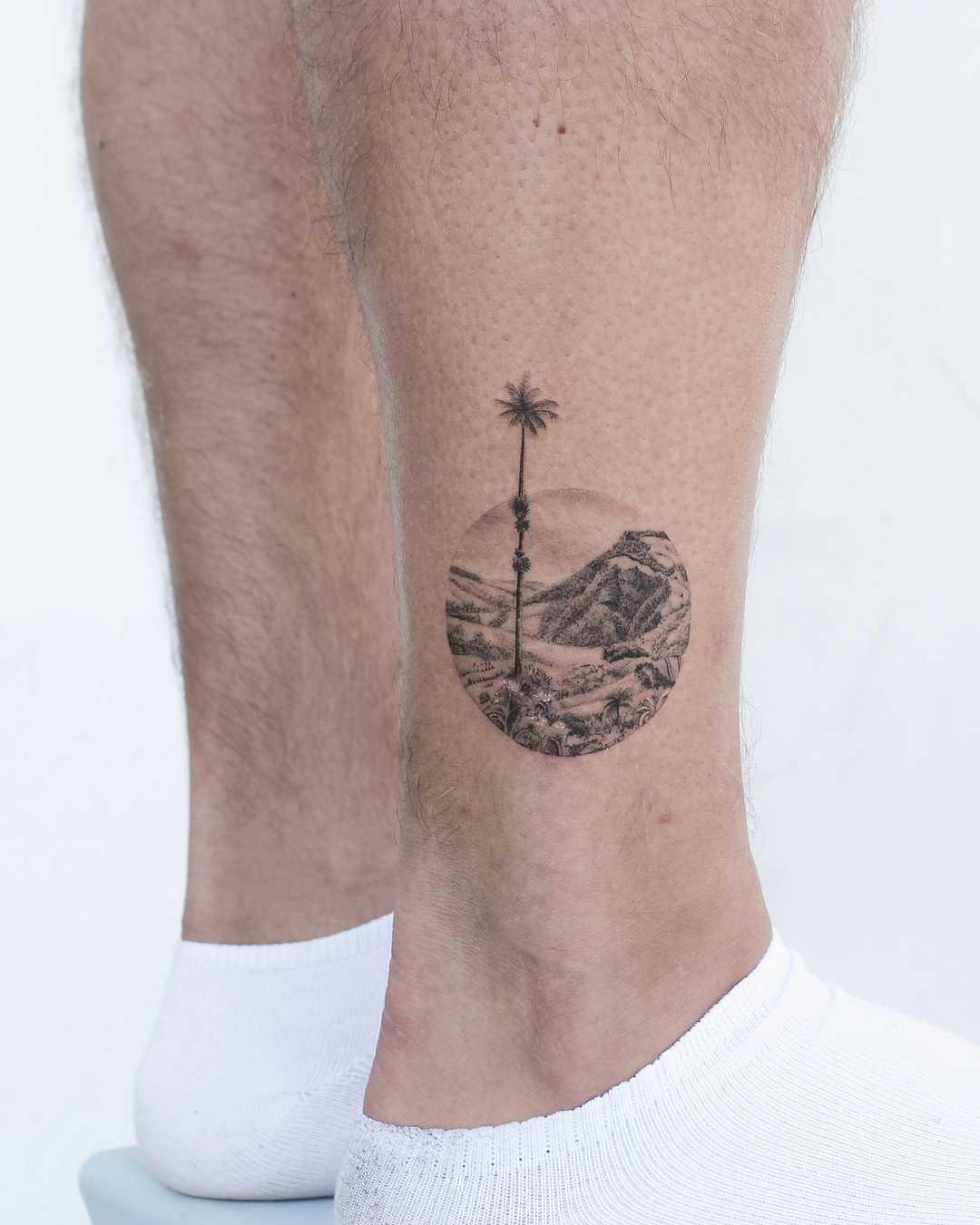 Colombian landscape tattoo