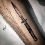 Cool switchblade tattoo