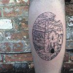 Cornish tin mine tattoo