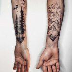 Couple tattoo by Sasha Tattooing