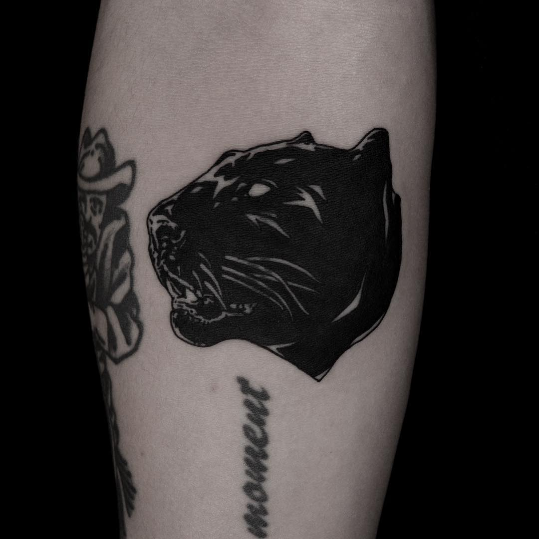 Cover up panther tattoo done at BK Ink Studio