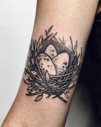 Cozy nest tattoo