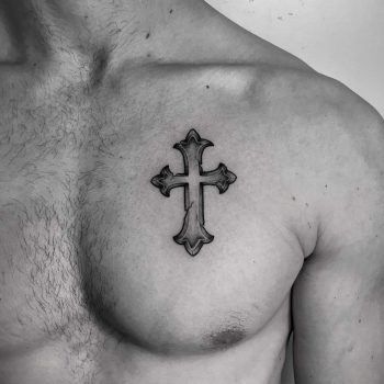 Cross on the chest