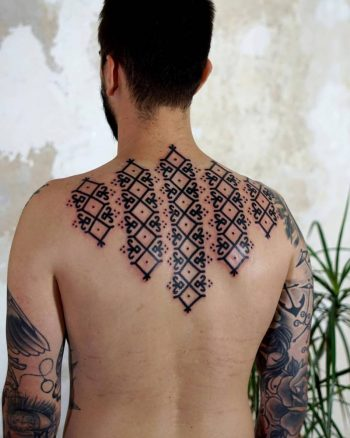 Custom pattern on the back by Brody Polinsky