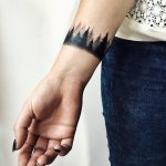 Dark woods armband tattoo