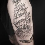 Doywork diamond pirate ship tattoo