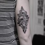 Floral rhombus tattoo by Wagner Basei
