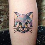Galaxy cat tattoo