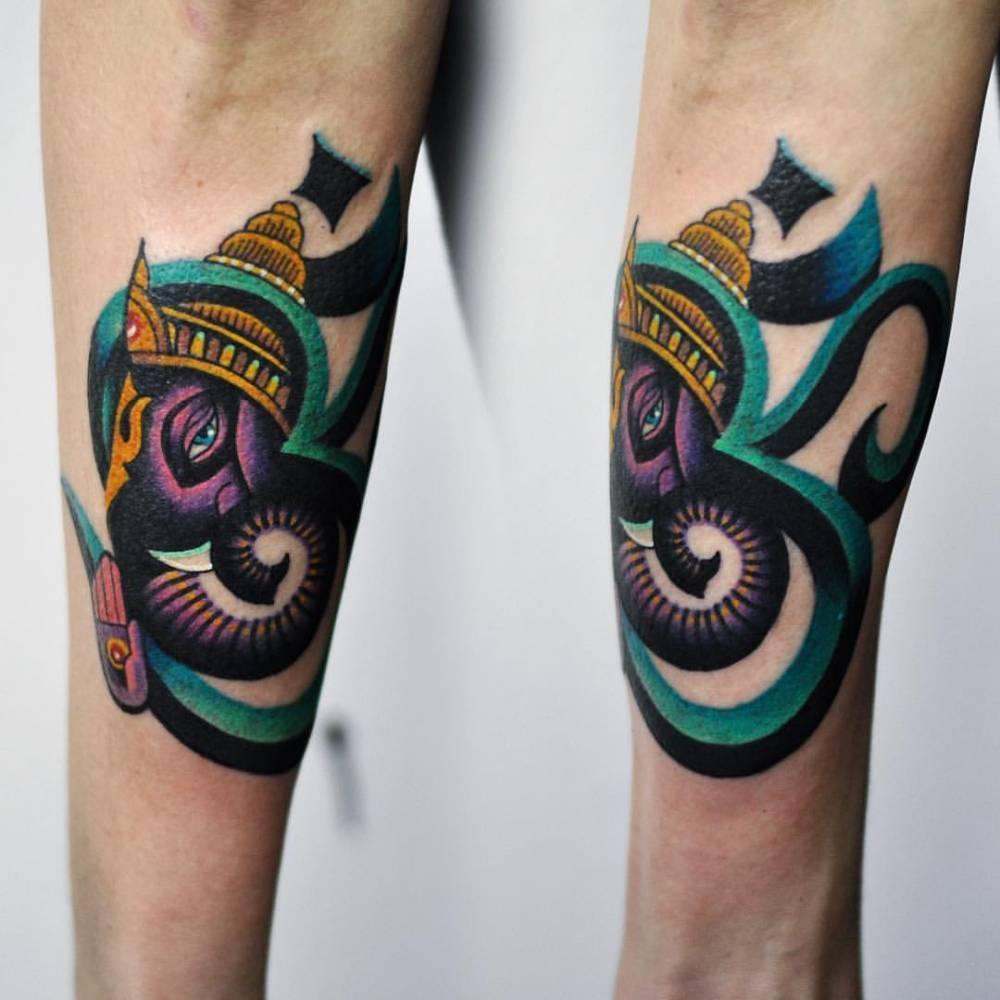 Ganesha tattoo by David Côté