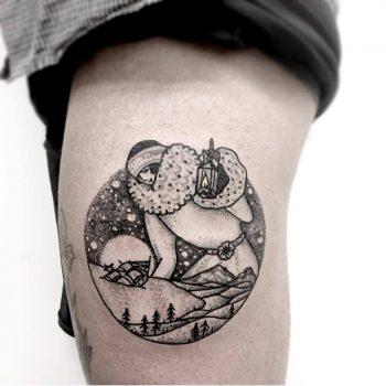 Giant tattoo by November Oak Branch