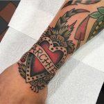Heart tattoo by Bailey Tattooer