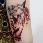 Holiday postcard tattoo by Roald Vd Broek