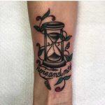 Hourglass tattoo by Veronica Petrilli