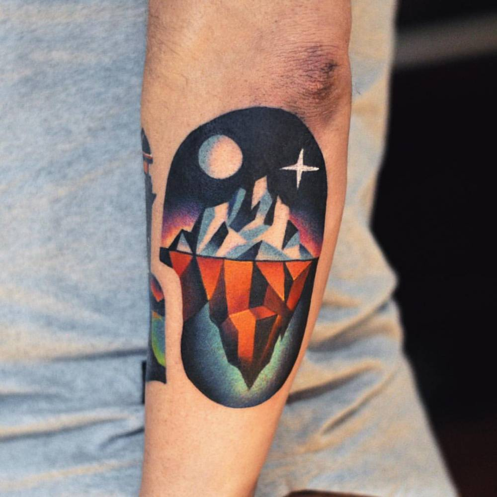 Iceberg tattoo by David Côté