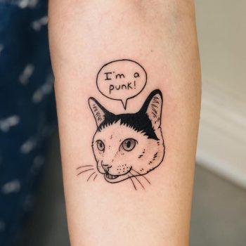 I'm a punk tattoo