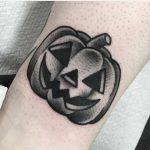 Jack-o'-lantern tattoo by Jeroen Van Dijk