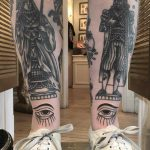 King and queen tattoos on shins