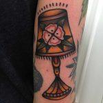 Lamp tattoo by Jeroen Van Dijk