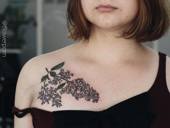 Lilac chest piece by Olga Nekrasova