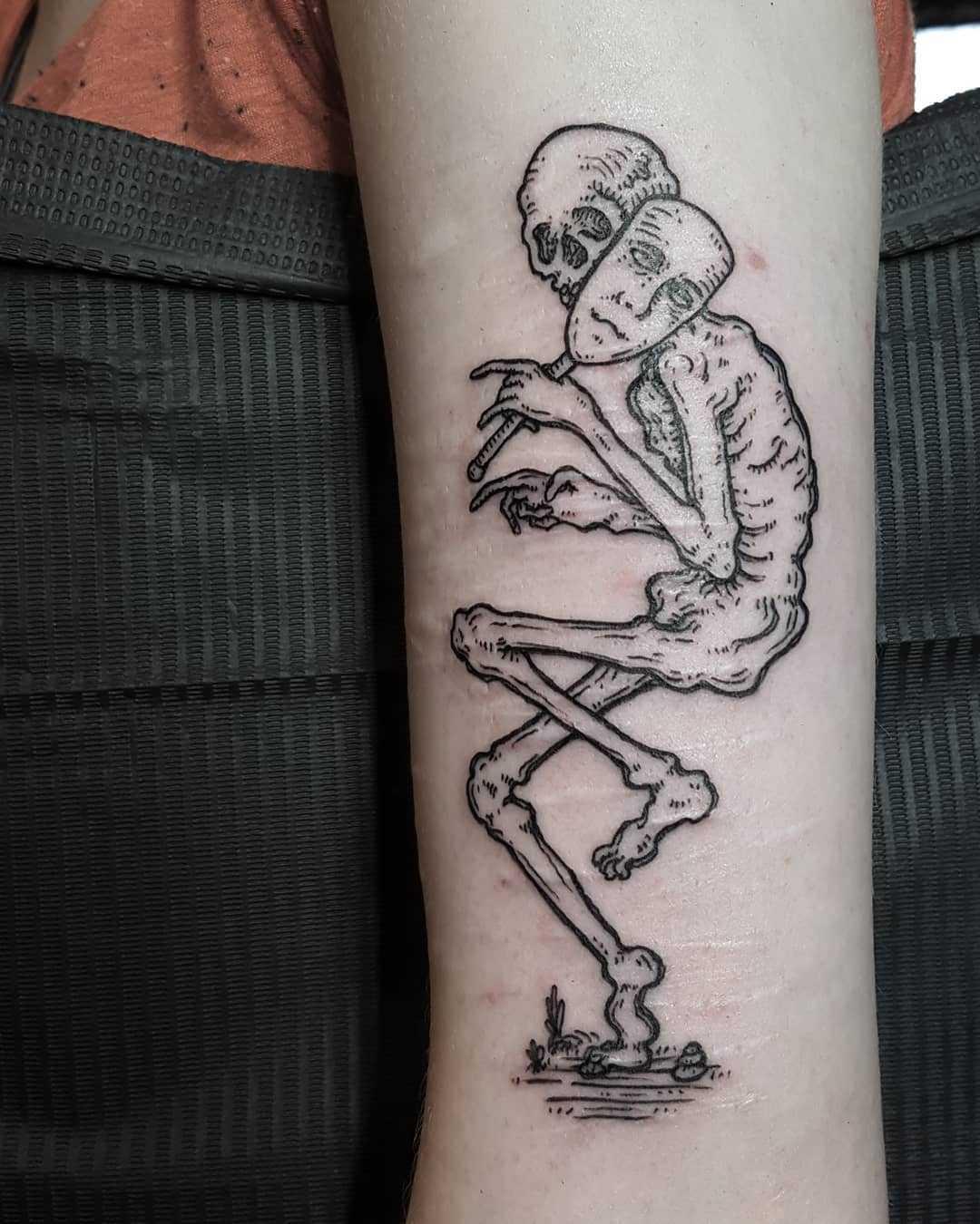 Little creeper tattoo