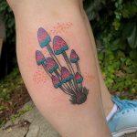 Magic mushrooms tattoo