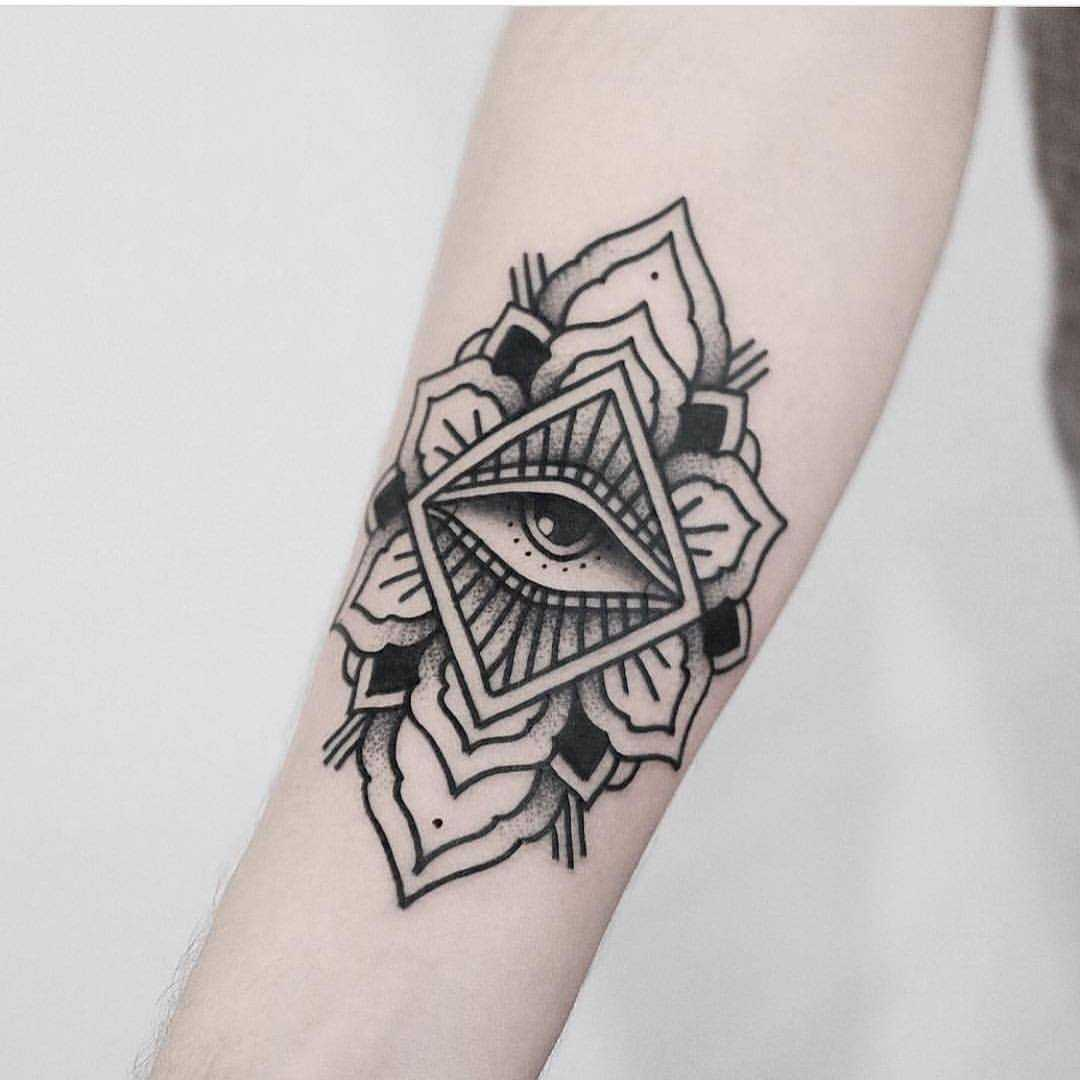 Mandala eye tattoo by Jonas Ribeiro