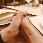 Matching wife and husband tattoos
