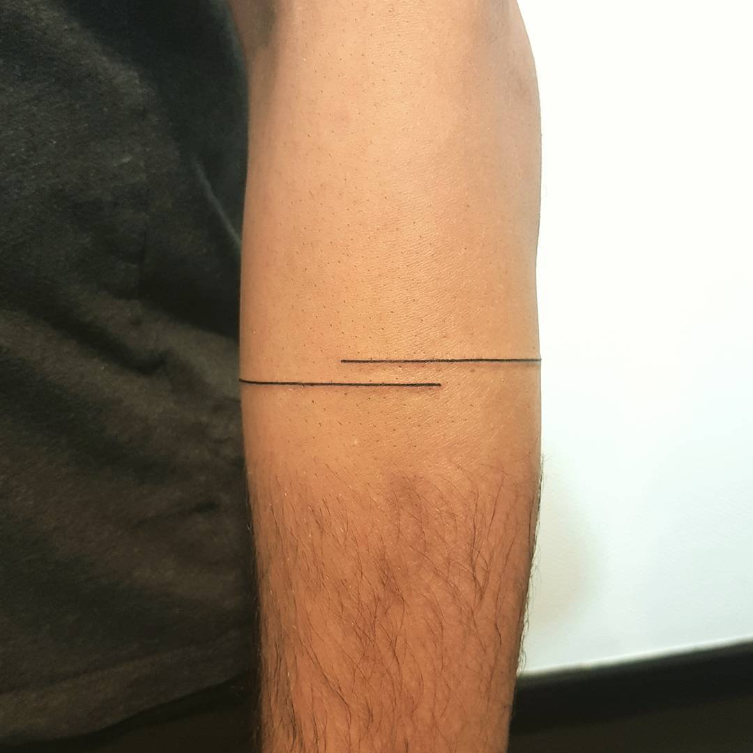 Minimalist double line