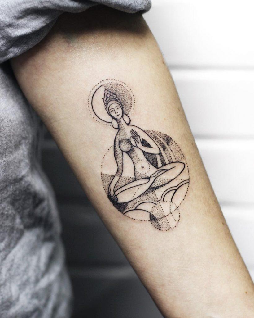 Mongolian goddess tattoo