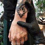 North Star tattoo on the wrist