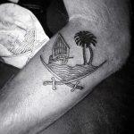 Old pirate ship tattoo