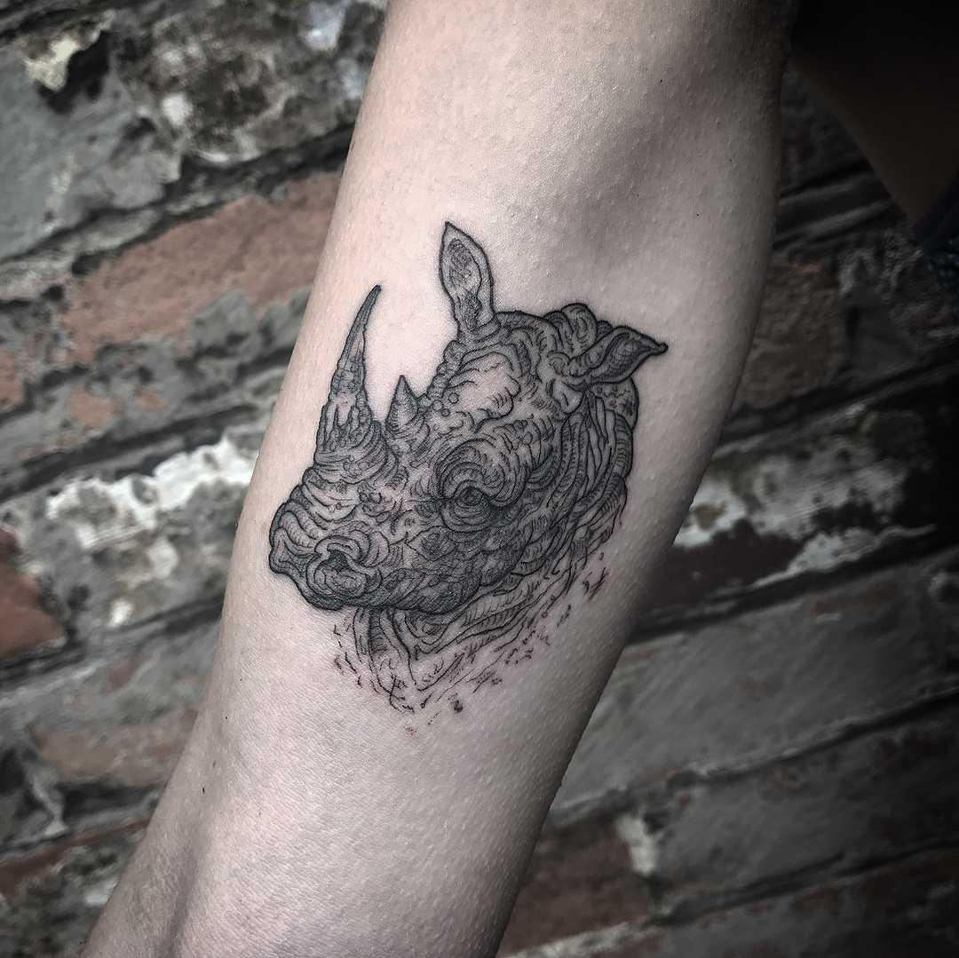 Rhino and Zebra tattoo