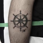 Ship's wheel tattoo