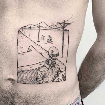 Skeleton driver tattoo