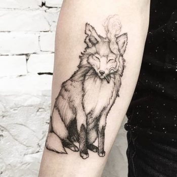 Smoking fox by Ink And Water Tattoo
