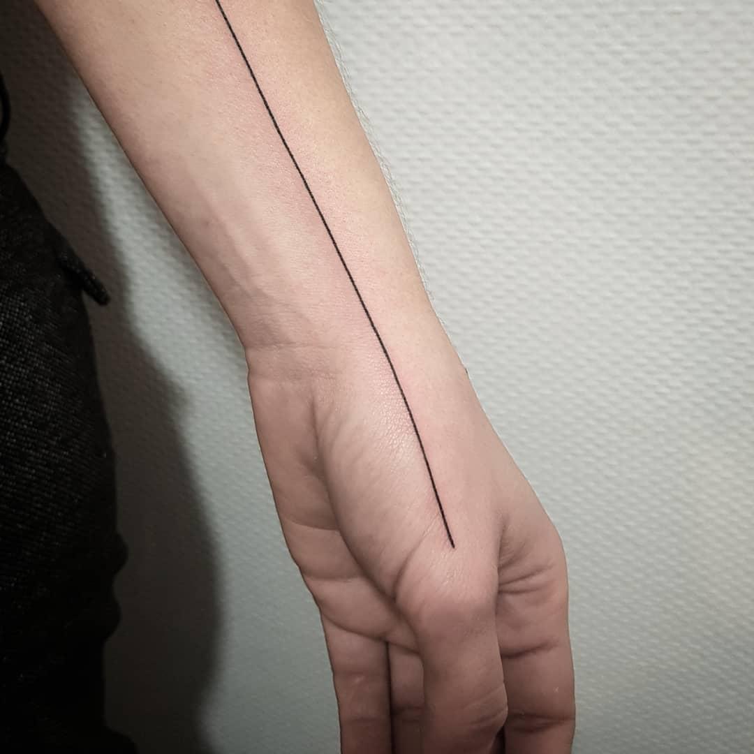Straight line done at Mu Body Arts Studio