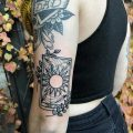 Sun tarot card tattoo