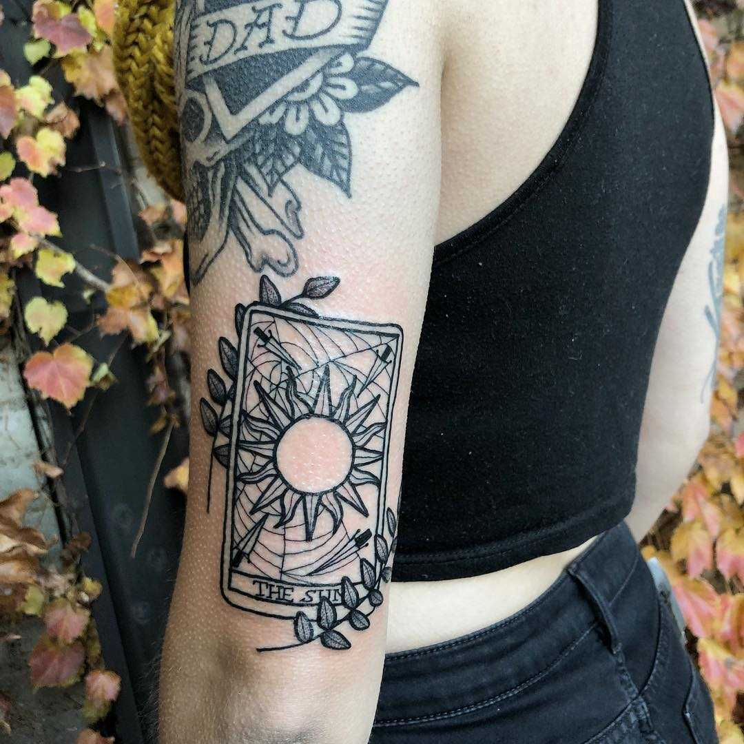 Sun Tarot Card Tattoo Tattoogrid Net