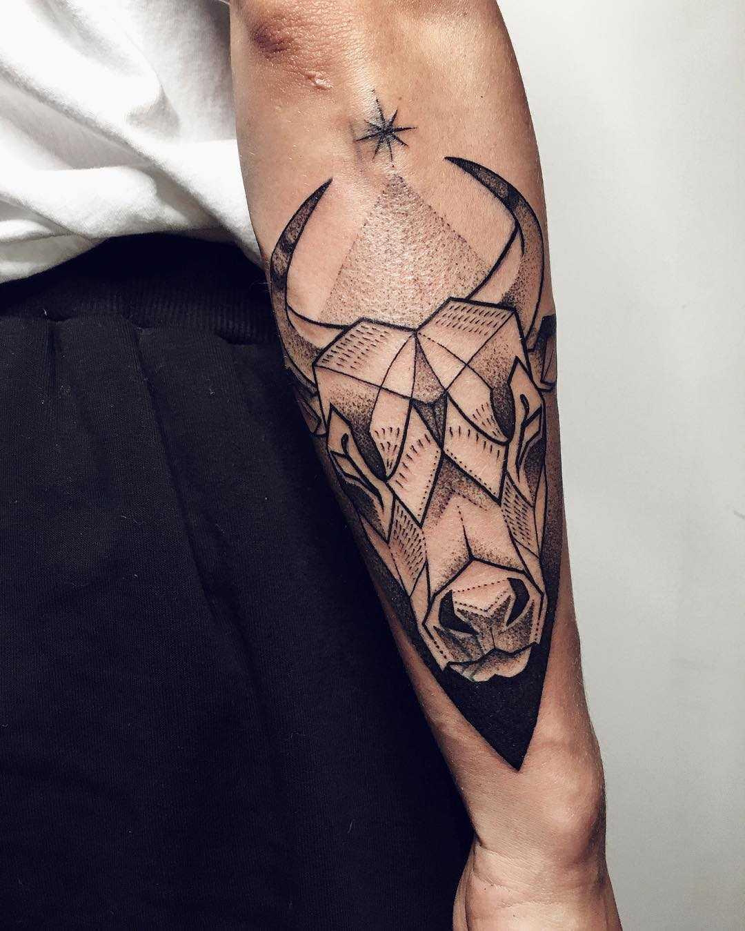 Taurus tattoo by Sasha Tattooing - Tattoogrid.net